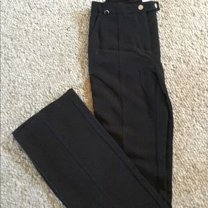 Anthropologie Elevenses size 2 black wide-legged